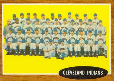 1962 Topps Cleveland Indians Team #537 Baseball Card