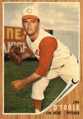 1962 Topps Jim O'Toole #450 Baseball Card