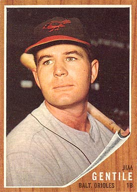 1962 Topps Jim Gentile #290 Baseball Card