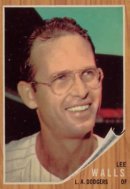 1962 Topps Lee Walls #129-stripe Baseball Card