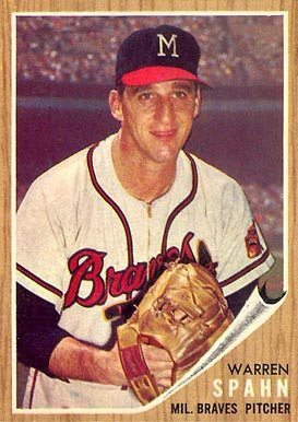 1962 Topps Warren Spahn #100 Baseball Card
