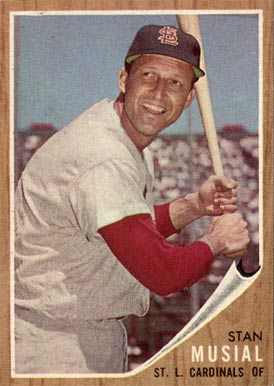 1962 Topps Stan Musial 50 Baseball Card