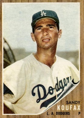 1962 Topps Sandy Koufax #5 Baseball Card
