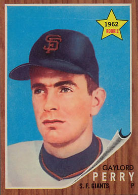 1962 Topps Gaylord Perry #199 Baseball Card