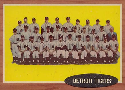 1962 Topps Detroit Tigers Team #24 Baseball Card