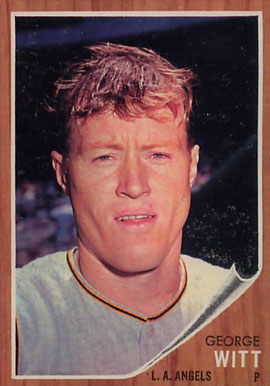 1962 Topps George Witt #287 Baseball Card