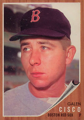 1962 Topps Galen Cisco #301 Baseball Card