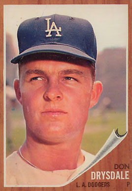 1962 Topps Don Drysdale #340 Baseball Card