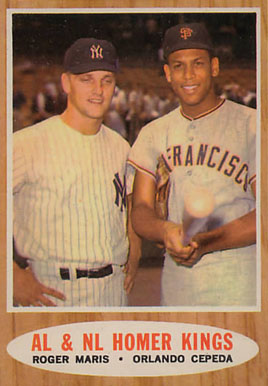 1962 Topps A.L. & N.L. Homer Kings #401 Baseball Card