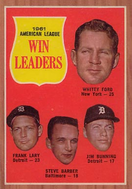 1962 Topps A.L. Win Leaders #57 Baseball Card