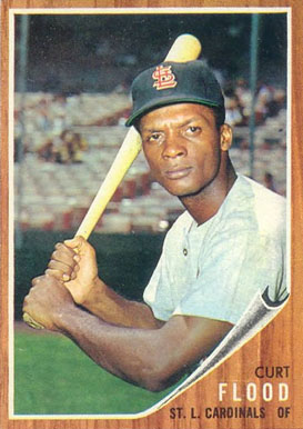 1962 Topps Curt Flood #590 Baseball Card