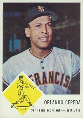 1963 Fleer Orlando Cepeda #64 Baseball Card