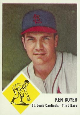 1963 Fleer Ken Boyer #60 Baseball Card