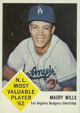 1963 Fleer Maury Wills #43 Baseball Card