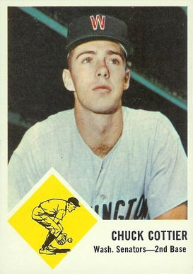 1963 Fleer Chuck Cottier #28 Baseball Card