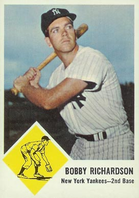 1963 Fleer Bobby Richardson #25 Baseball Card