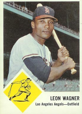 1963 Fleer Leon Wagner #21 Baseball Card