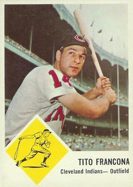 1963 Fleer Tito Francona #12 Baseball Card