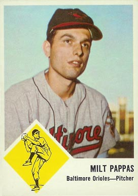 1963 Fleer Milt Pappas #3 Baseball Card