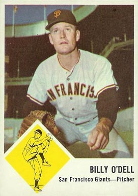 1963 Fleer Billy O'Dell #66 Baseball Card