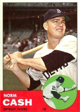 1963 Topps Norm Cash #445 Baseball Card