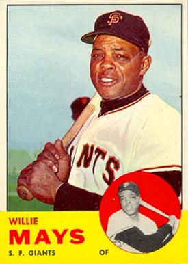1963 Topps Willie Mays #300 Baseball Card