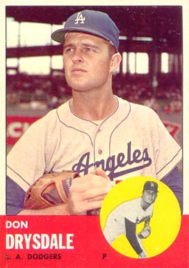 1963 Topps Don Drysdale #360 Baseball Card