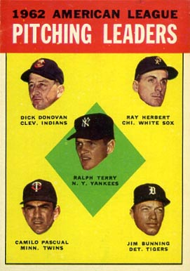 1963 Topps A.L. Pitching Leaders #8 Baseball Card
