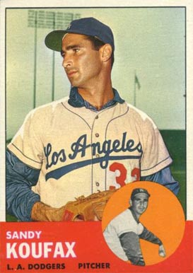 1963 Topps Sandy Koufax #210 Baseball Card