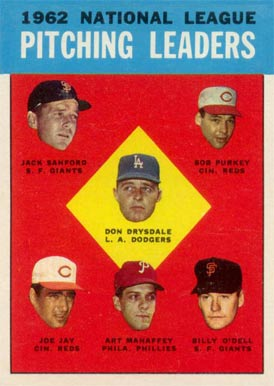 1963 Topps Don Drysdale #7 Baseball Card