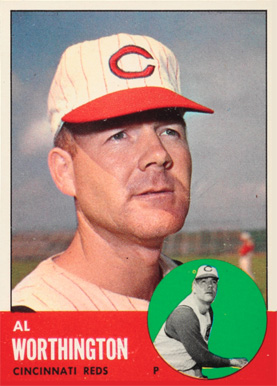 1963 Topps Al Worthington #556 Baseball Card