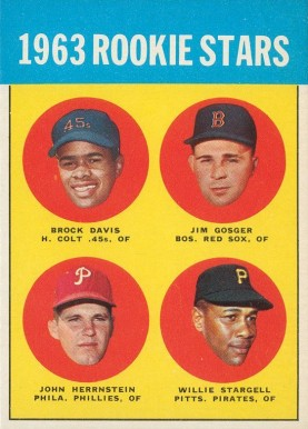 1963 Topps Willie Stargell #553 Baseball Card