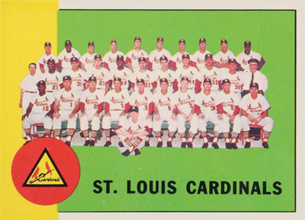1963 Topps St. Louis Cardinals Team #524 Baseball Card