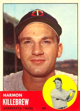 1963 Topps Harmon Killebrew #500 Baseball Card