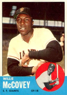 1963 Topps Willie McCovey #490 Baseball Card