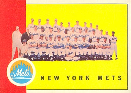 1963 Topps New York Mets Team #473 Baseball Card