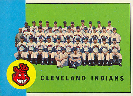 1963 Topps Cleveland Indians Team #451 Baseball Card