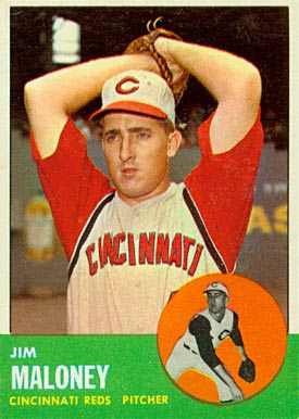 1963 Topps Jim Maloney #444 Baseball Card