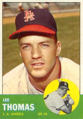 1963 Topps Lee Thomas #441 Baseball Card