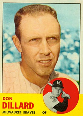 1963 Topps Don Dillard #298 Baseball Card