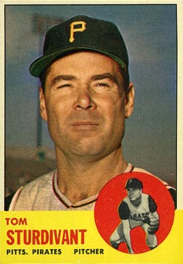 1963 Topps Tom Sturdivant #281 Baseball Card