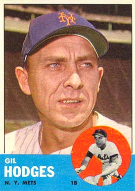 1963 Topps Gil Hodges #245 Baseball Card