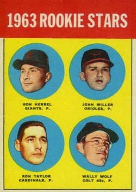 1963 Topps Ron Herbel #208 Baseball Card