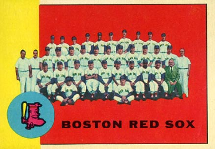1963 Topps Boston Red Sox Team #202 Baseball Card