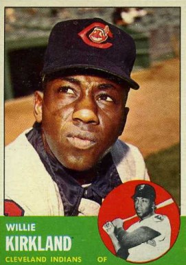 1963 Topps Willie Kirkland #187 Baseball Card