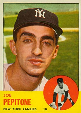 1963 Topps Joe Pepitone #183 Baseball Card