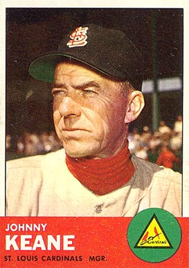 1963 Topps Johnny Keane #166 Baseball Card