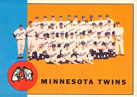 1963 Topps Minnesota Twins Team #162 Baseball Card