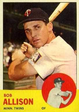 1963 Topps Bob Allison #75 Baseball Card