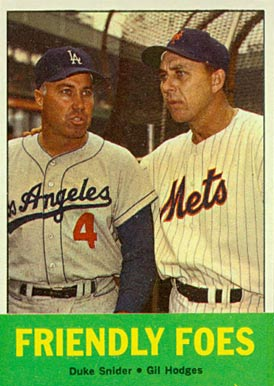 1963 Topps Gil Hodges #68 Baseball Card